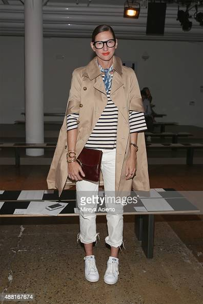 Jenna Lyons attends the Jonathan Simkhai fashion show during Spring 2016 MADE Fashion Week at Milk Studios on September 13 2015 in New York City