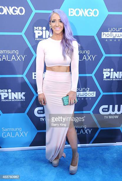 Jenna Marbles arrives at the 16th Annual Young Hollywood Awards at The Wiltern on July 27 2014 in Los Angeles California