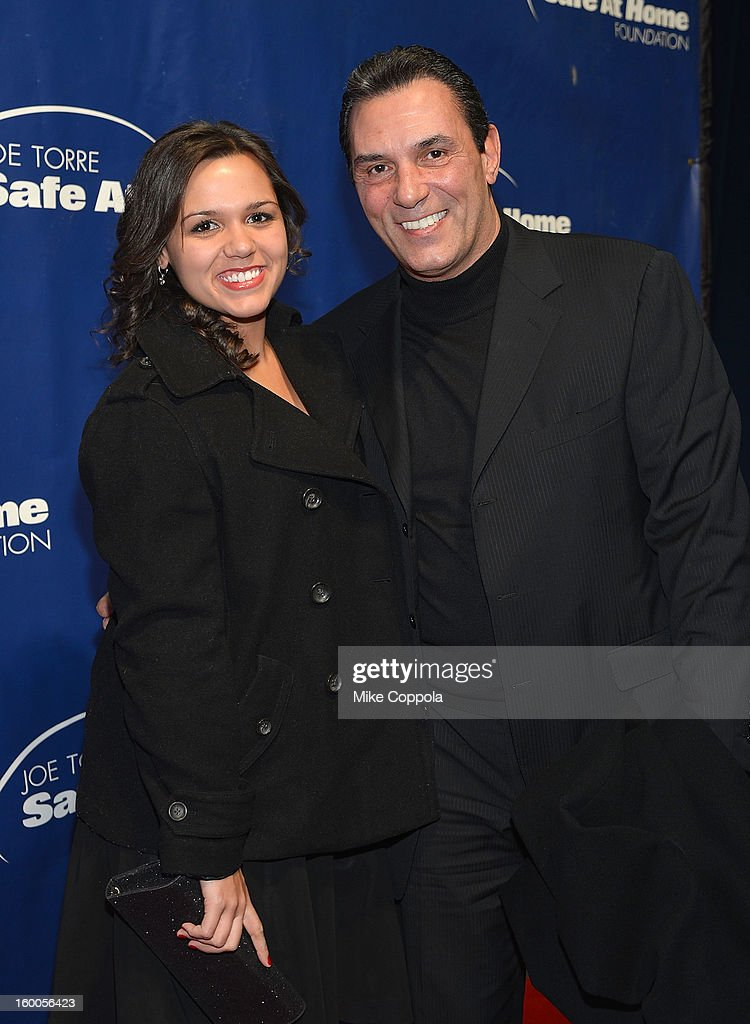 Jenna Mazzilli and (L) and former professional baseball player Lee Mazzilli attends the Joe Torre Safe At Home Foundation's 10th Anniversary Gala at Pier 60 on January 24, 2013 in New York City.