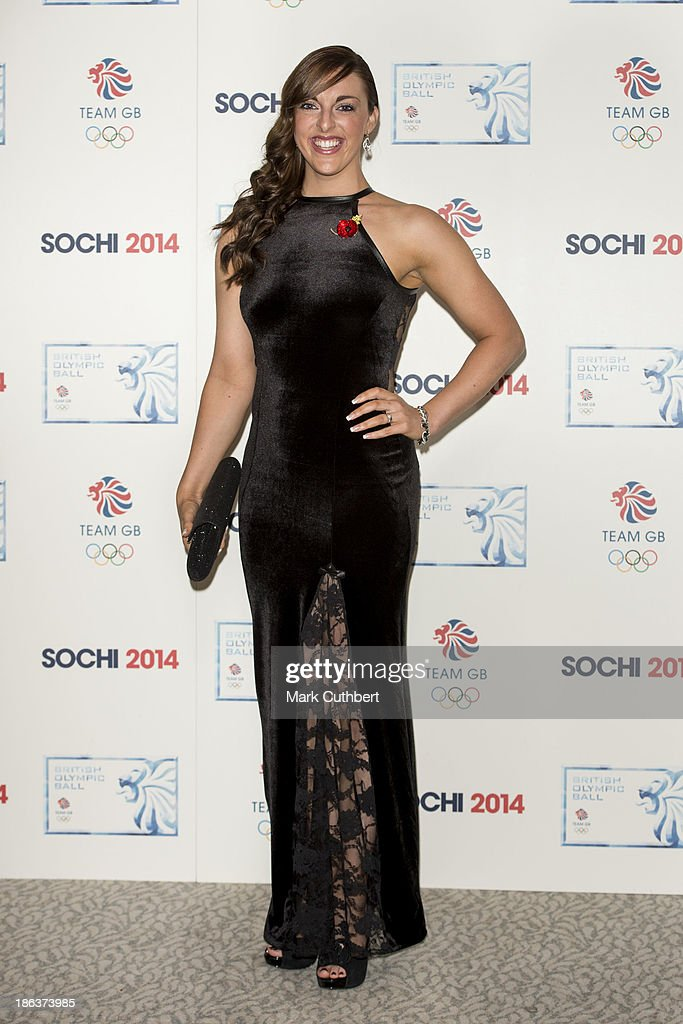 Jenna McCorkell attends the British Olympic Ball at The Dorchester on October 30, 2013 in London, England.