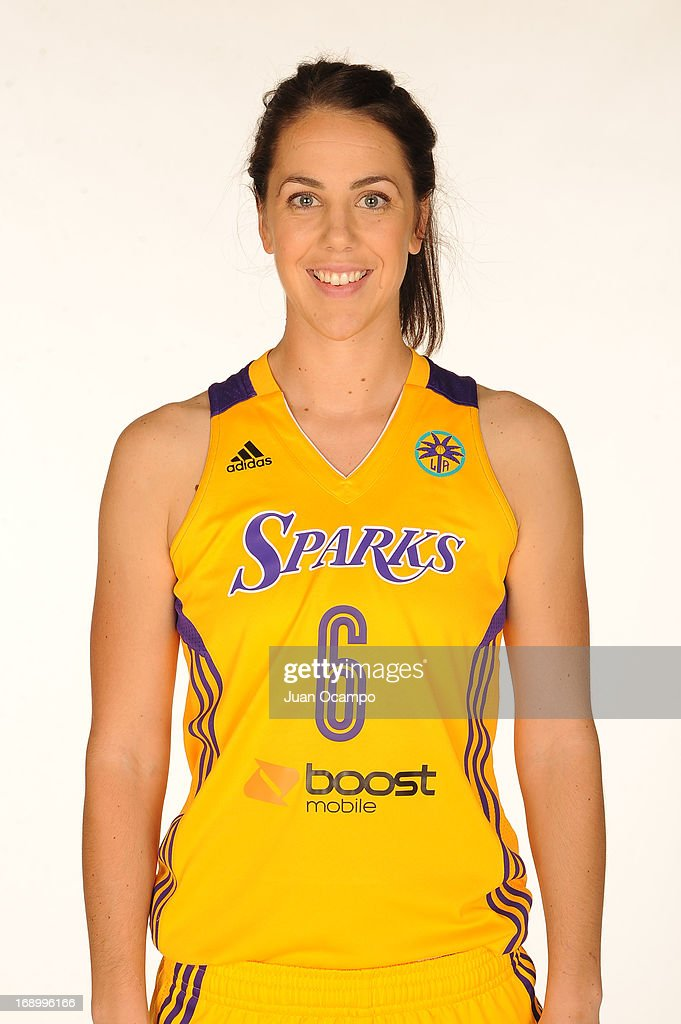 Jenna O'Hea #6 of the Los Angeles Sparks poses for a headshot during the Los Angeles Sparks Media Day on May 17, 2013 at St. Mary's School in Inglewood, California.