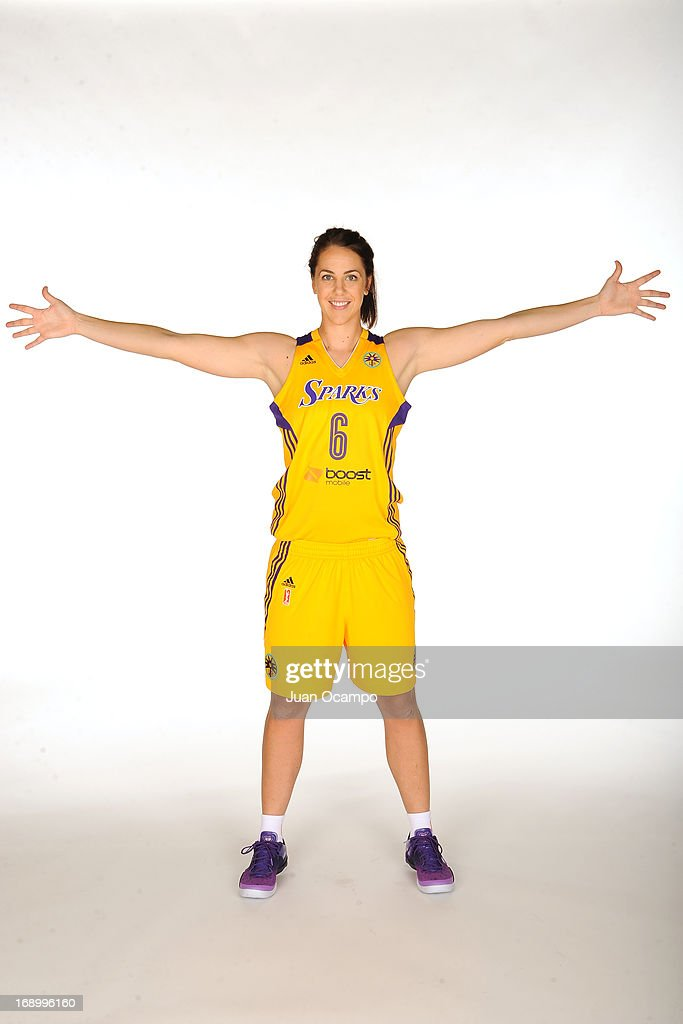 Jenna O'Hea #6 of the Los Angeles Sparks poses for a photo during the Los Angeles Sparks Media Day on May 17, 2013 at St. Mary's School in Inglewood, California.