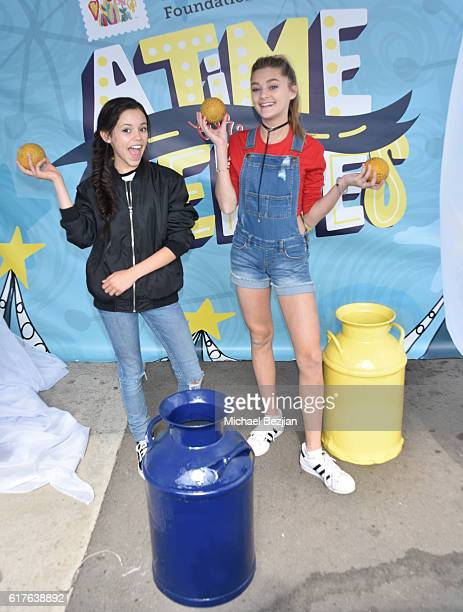 Jenna Ortega and G Hannelius attend Elizabeth Glaser Pediatric Aids Foundation 'A Time For Heroes' Family Festival at Smashbox Studios on October 23...