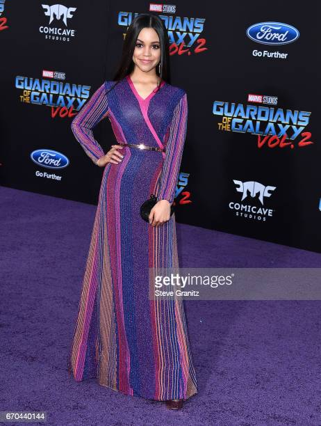 Jenna Ortega arrives at the Premiere Of Disney And Marvel's 'Guardians Of The Galaxy Vol 2' at Dolby Theatre on April 19 2017 in Hollywood California