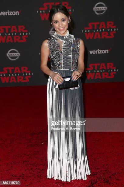 Jenna Ortega attends the premiere of Disney Pictures and Lucasfilm's 'Star Wars The Last Jedi' at The Shrine Auditorium on December 9 2017 in Los...