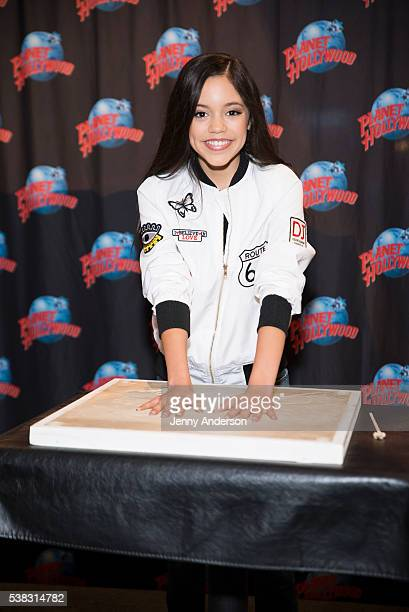 Jenna Ortega visits Planet Hollywood Times Square on June 5 2016 in New York City