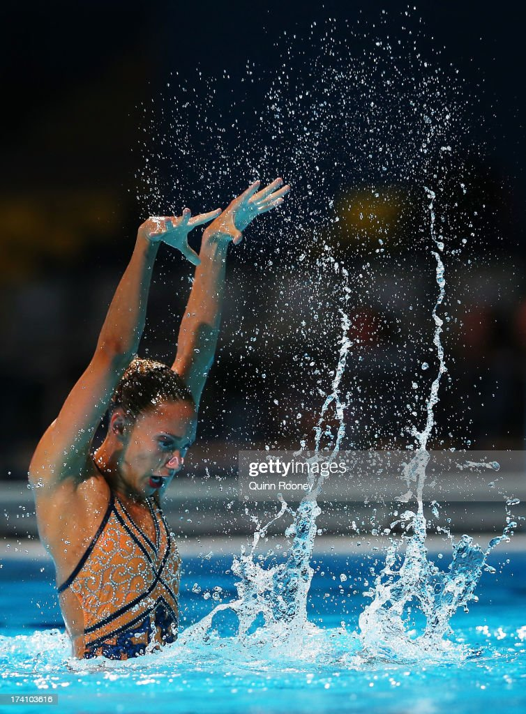 <a gi-track='captionPersonalityLinkClicked' href=/galleries/search?phrase=Jenna+Randall&family=editorial&specificpeople=801148 ng-click='$event.stopPropagation()'>Jenna Randall</a> of Great Britain competes in the Synchronized Swimming Solo Technical final on day one of the 15th FINA World Championships at Palau Sant Jordi on July 20, 2013 in Barcelona, Spain.