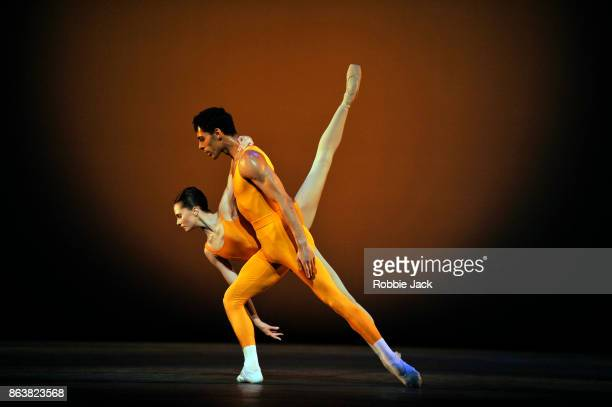 Jenna Roberts and Tyrone Singleton in the Royal Ballet's production of Kenneth MacMillan's Concerto at The Royal Opera House on October 18 2017 in...