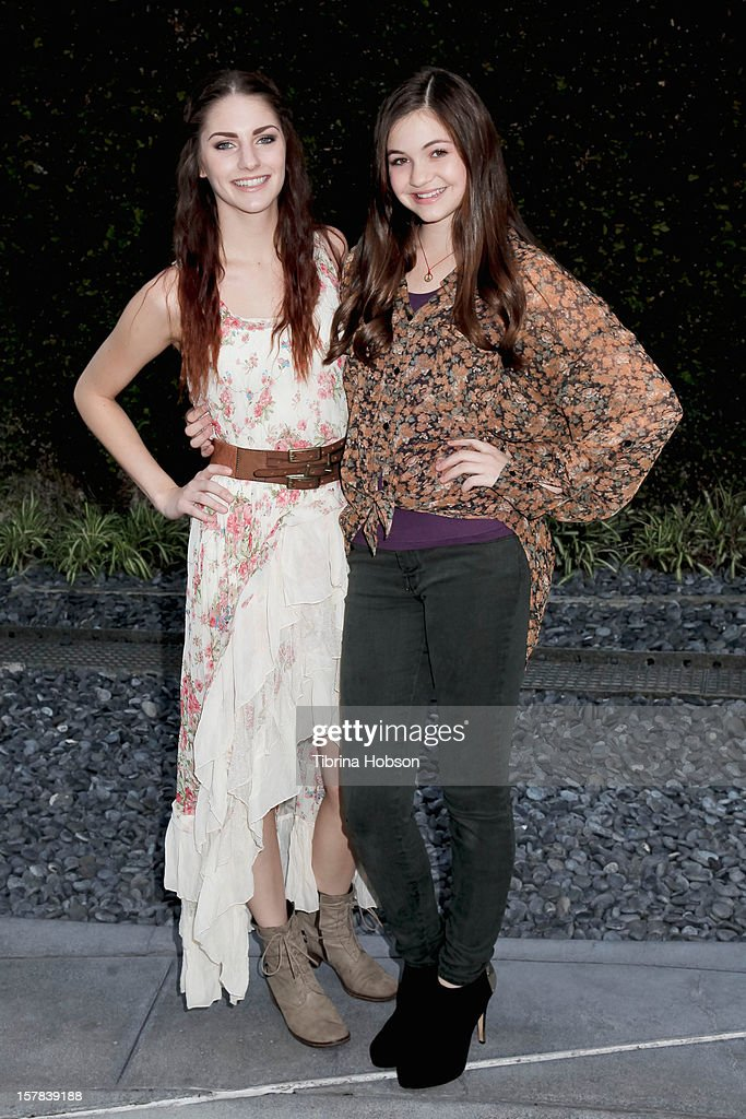 Jenna Stone and Megan Raich attends the 'Edge Of Salvation' Los Angeles premiere at ArcLight Cinemas on December 6, 2012 in Hollywood, California.