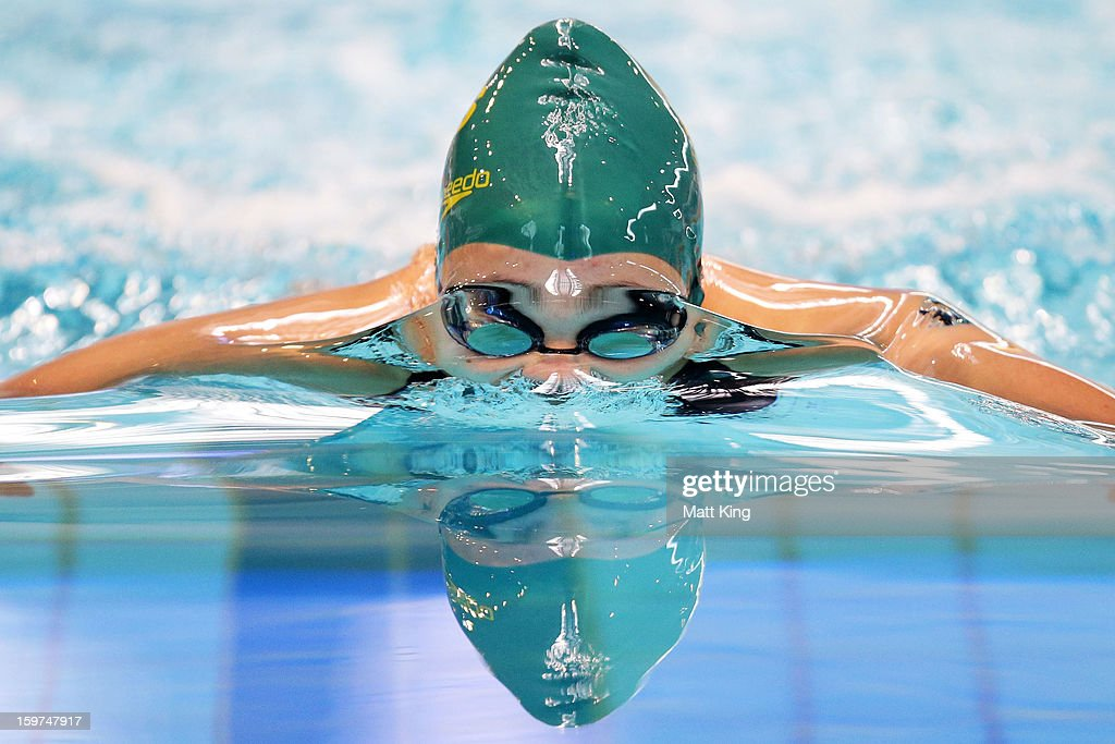 Jenna Straunch of Australia competes in the Women's 200m Breaststroke Final during day five of the Australian Youth Olympic Festival at Sydney Olympic Park Aquatic Centre on January 20, 2013 in Sydney, Australia.
