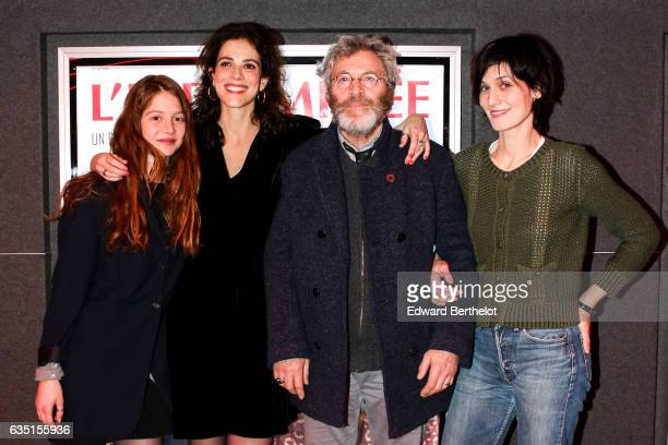 Jenna Thiam Caroline Deruas Tcheky Karyo and Clothilde Hesme are seen during the 'L'indomptee' movie Paris Premiere at MK2 Odeon on February 13 2017...