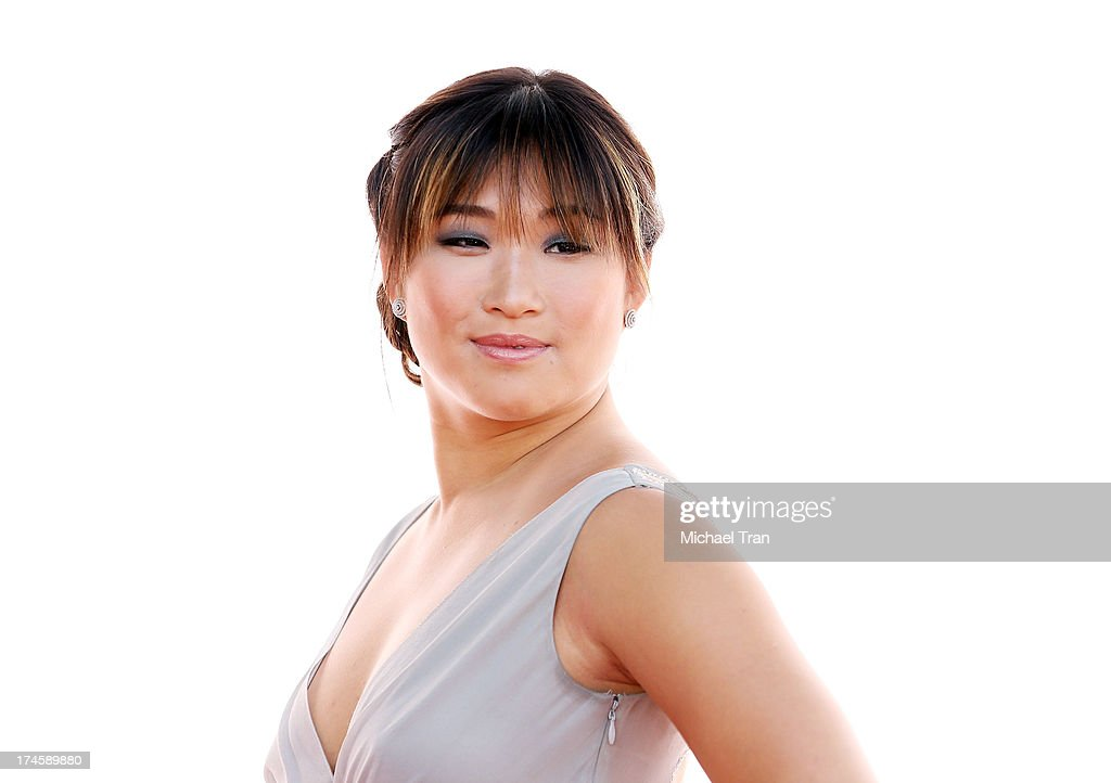 <a gi-track='captionPersonalityLinkClicked' href=/galleries/search?phrase=Jenna+Ushkowitz&family=editorial&specificpeople=4863323 ng-click='$event.stopPropagation()'>Jenna Ushkowitz</a> arrives at the Dizzy Feet Foundation's 3rd Annual Celebration of Dance Gala held at Dorothy Chandler Pavilion on July 27, 2013 in Los Angeles, California.