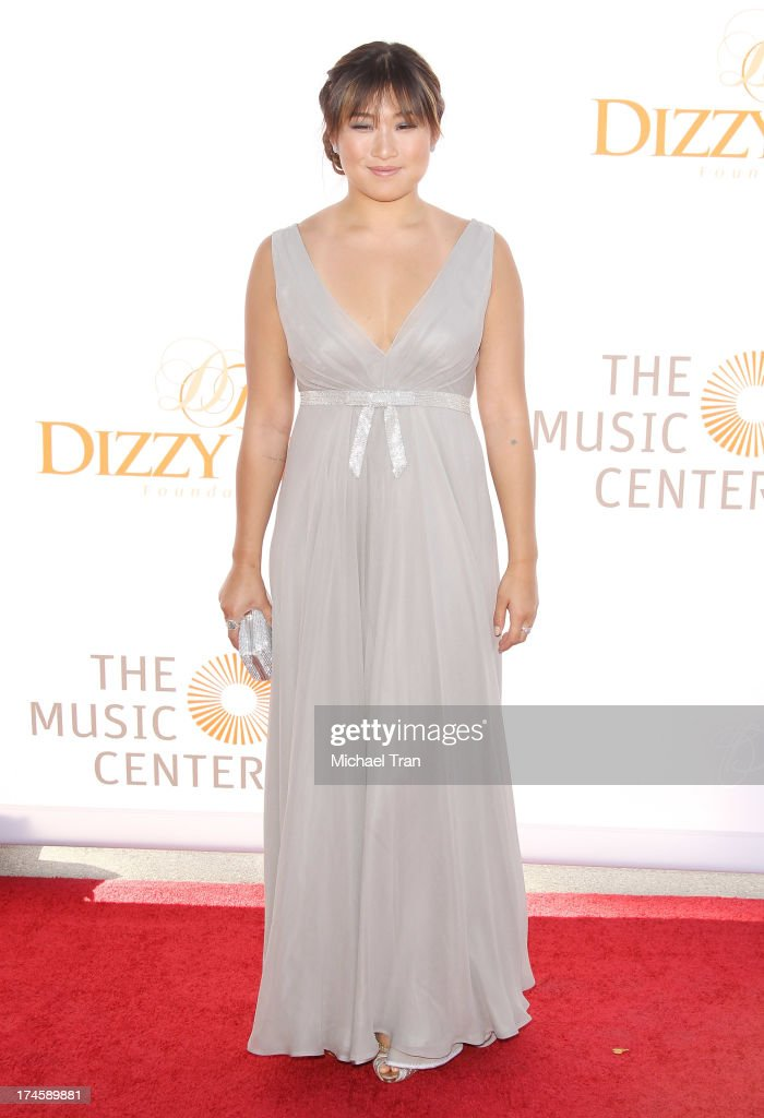 Jenna Ushkowitz arrives at the Dizzy Feet Foundation's 3rd Annual Celebration of Dance Gala held at Dorothy Chandler Pavilion on July 27, 2013 in Los Angeles, California.