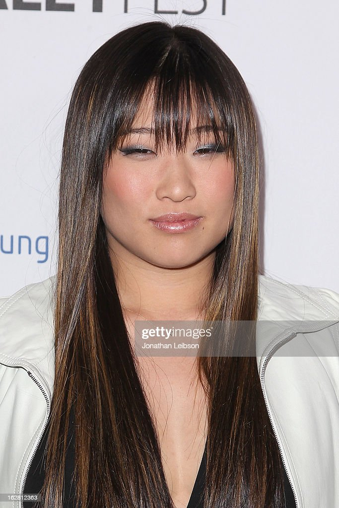 Jenna Ushkowitz arrives to The Paley Center Honors Ryan Murphy With Inaugural PaleyFest Icon Award at The Paley Center for Media on February 27 2013...