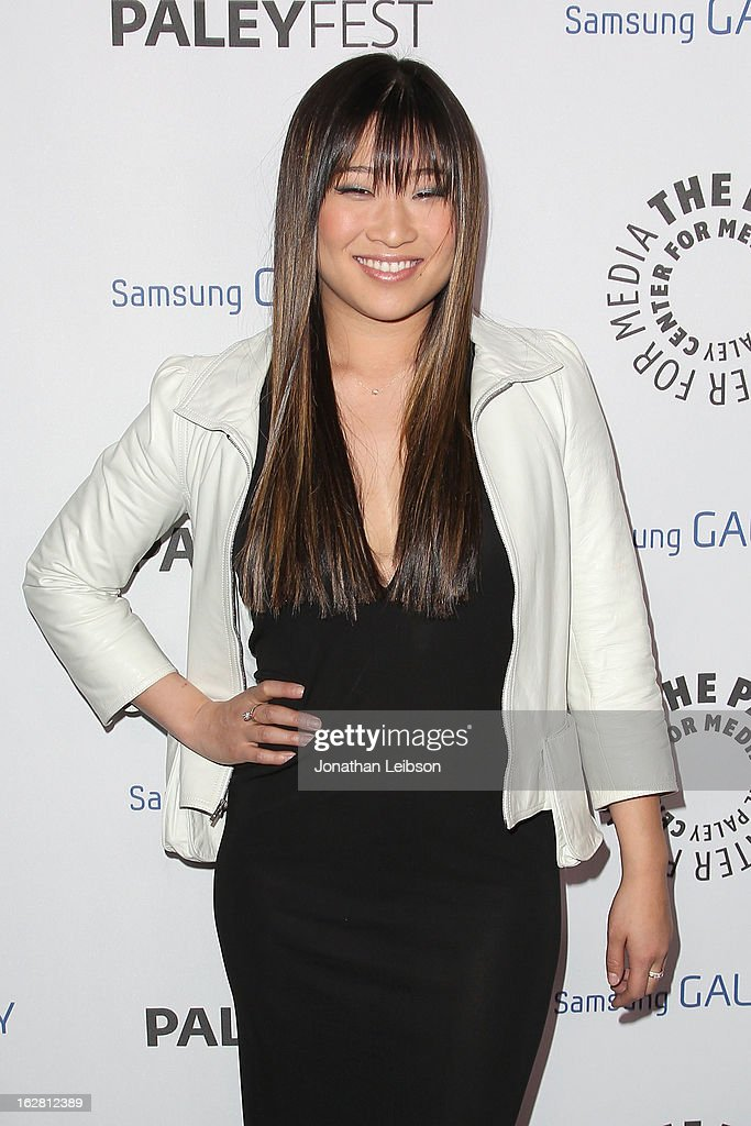 Jenna Ushkowitz arrives to The Paley Center Honors Ryan Murphy With Inaugural PaleyFest Icon Award at The Paley Center for Media on February 27, 2013 in Beverly Hills, California.