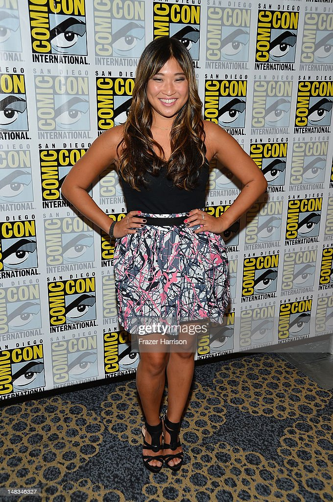Jenna Ushkowitz attends the 'GLEE' Press Room during Comic-Con International 2012 held at the Hilton San Diego Bayfront Hotel on July 14, 2012 in San Diego, California.