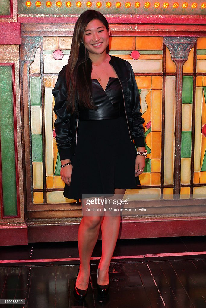 <a gi-track='captionPersonalityLinkClicked' href=/galleries/search?phrase=Jenna+Ushkowitz&family=editorial&specificpeople=4863323 ng-click='$event.stopPropagation()'>Jenna Ushkowitz</a> poses backstage at Le Moulin Rouge on May 22, 2013 in Paris, France.