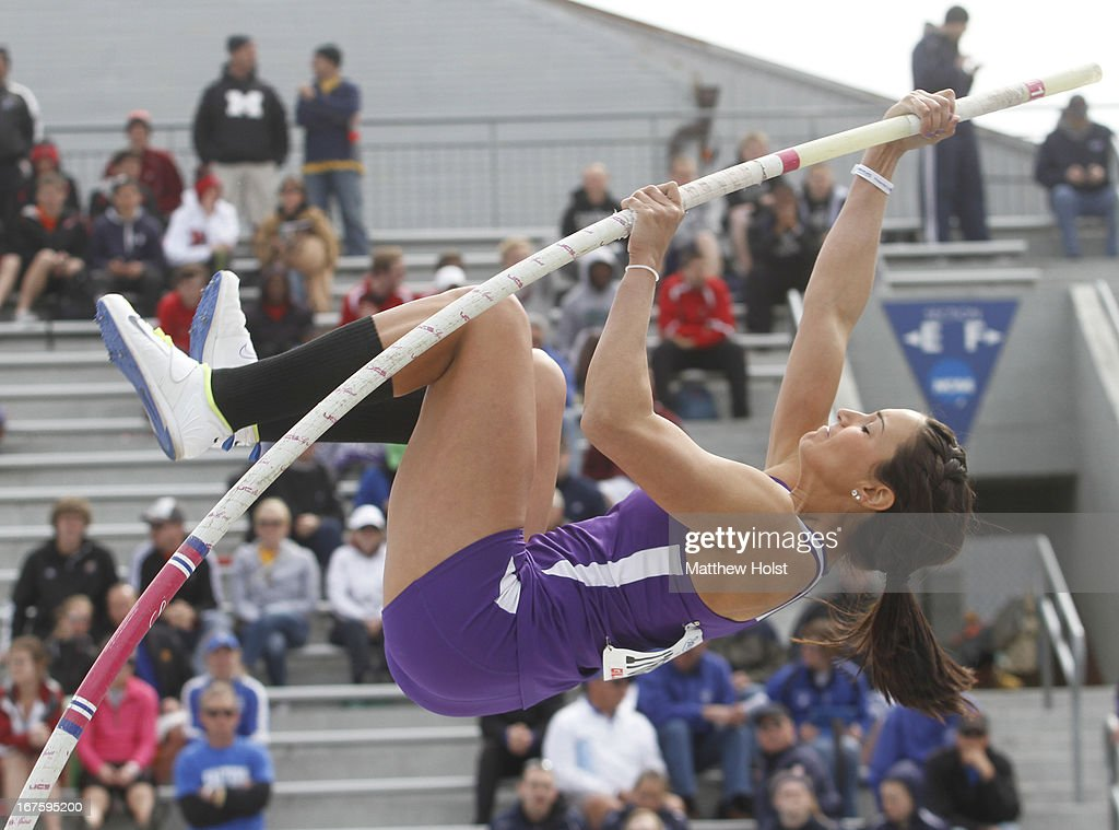Jenna Wexter of the Northern Iowa Panthers competes in the Women's pole vault at the Drake Relays, on April 26, 2013 at Drake Stadium, in Des Moines, Iowa.