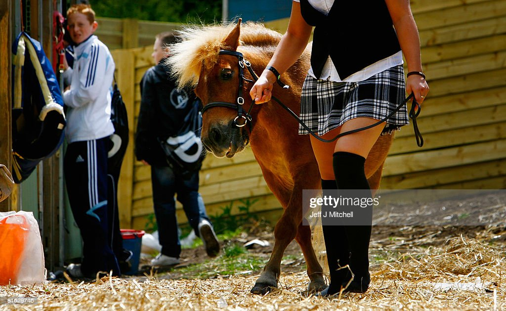 Jenna Wright, from Cochno Stud in Clydebank walks her Shetland Pony at the Royal Highland Show June 19, 2008 in Edinburgh,Scotland. The event is the biggest in the Scottish farming calendar with it expecting over 100,000 visitors over the next four days.