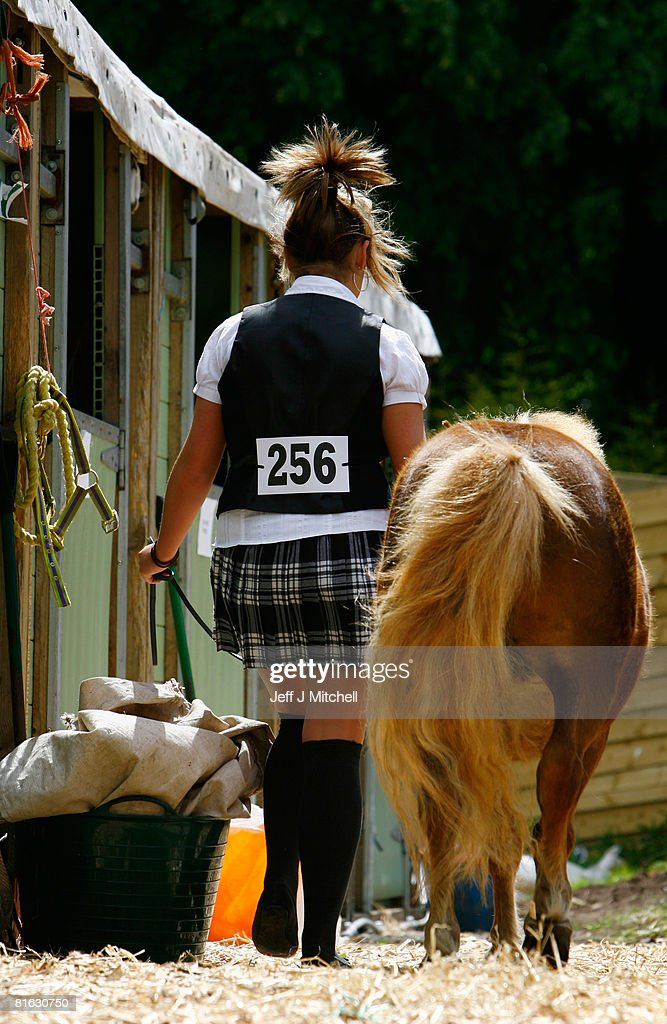 Jenna Wright, from Cochno Stud in Clydebank walks her Shetland Pony at the Royal Highland Show June 19, 2008 in Edinburgh,Scotland. The event is the biggest in the Scottish farming calendar with it expecting over 100,000 visitors over the next four day's.