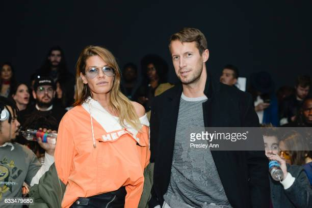 Jenne Lombardo and Brendan Fallis attend the Rochambeau show during NYFW Men's at Skylight Clarkson North on February 1 2017 in New York City