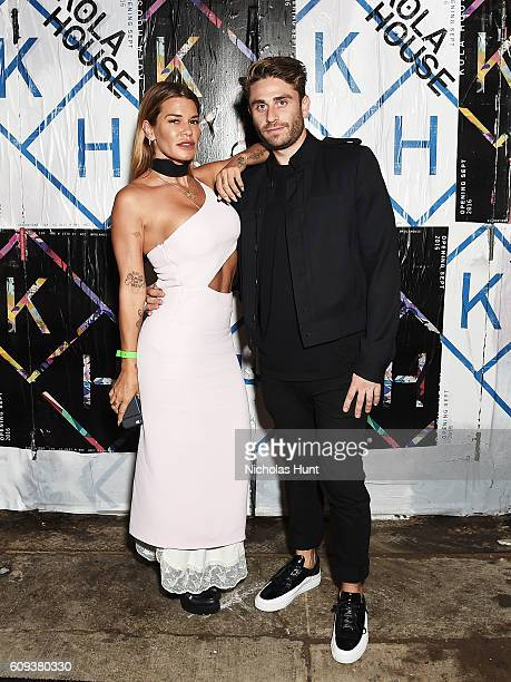 Jenne Lombardo and Eric Marx attend the Kola House Opening Party at Kola House on September 20 2016 in New York City