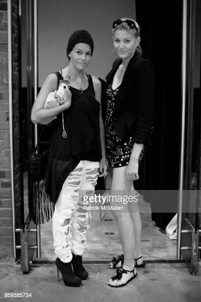 Jenne Lombardo and guest attend ERIN FETHERSTON Spring/Summer 2010 Collection at Milk Studios on September 13 2009 in New York City