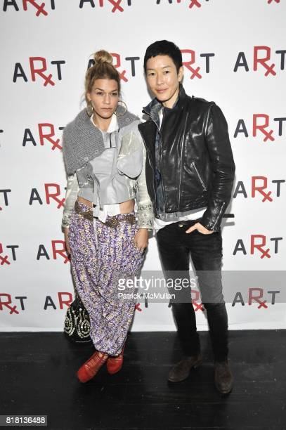 Jenne Lombardo and Jenny Shimizu attend RxArt Celebrates 10 Years of Bringing Contemporary Art to Hospitals at The Art Directors Club on November 15...