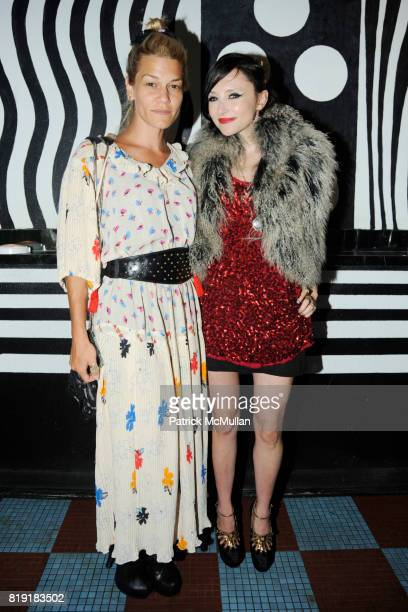 Jenne Lombardo and Stacey Bendet attend MAC alice olivia by Stacey Bendet Collection Launch at Beauty Bar on July 14 2010 in New York City