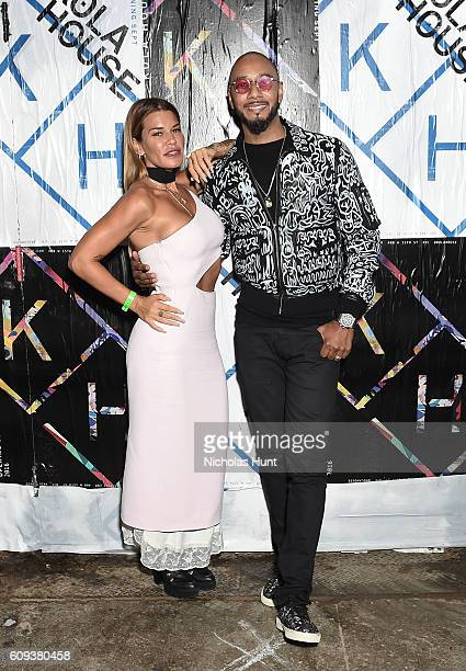 Jenne Lombardo and Swizz Beatz attend the Kola House Opening Party at Kola House on September 20 2016 in New York City