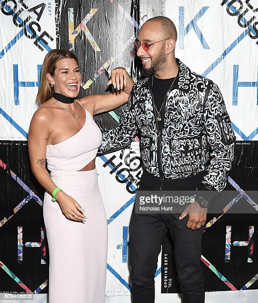 Jenne Lombardo and Swizz Beatz attend the Kola House Opening Party at Kola House on September 20 2016 in New York City