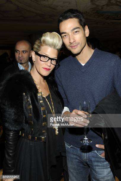 Jenne Lombardo and Tenzin Wild attend Moet Chandon hosts the Launch of Ben Watt's 'LICKSHOT' and the new Morgans Hotel Group CD at Hudson Hotel on...