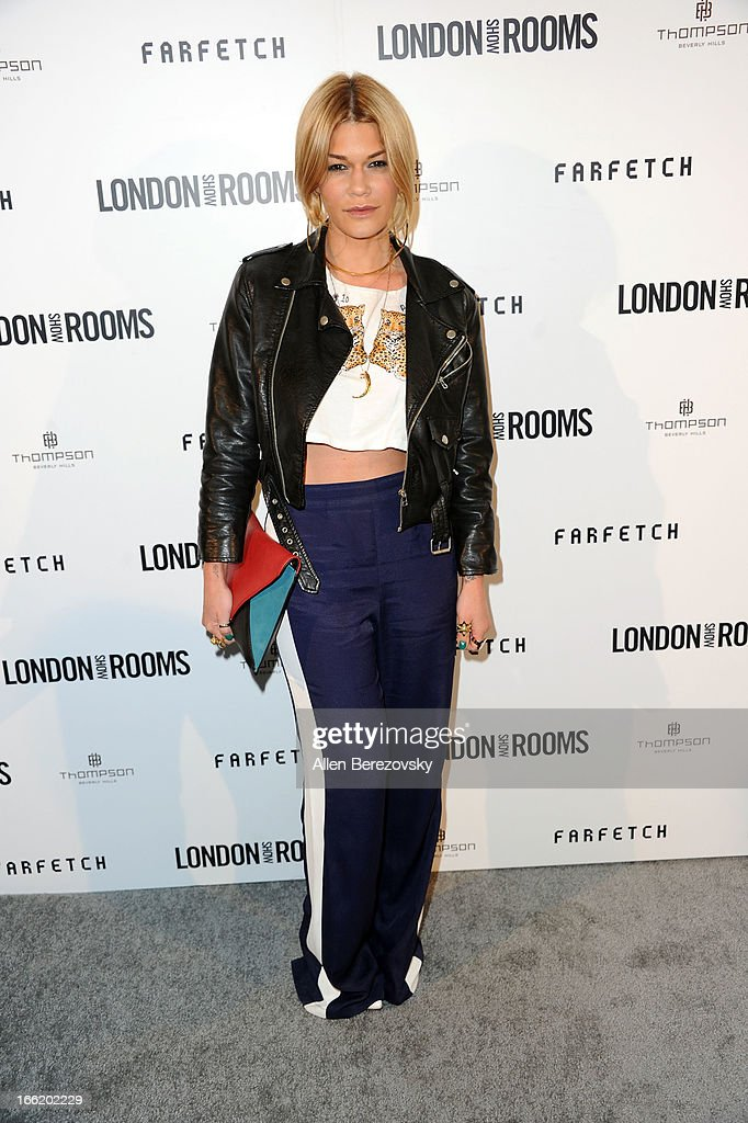 Jenne Lombardo attends the British Fashion Council's International Showcasing Initiative 'London Show Rooms LA' at Thompson Hotel on April 9 2013 in...