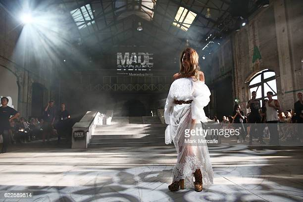 Jenne Lombardo attends the Faith Connection Runway Show MADE Sydney at Carriageworks on November 12 2016 in Sydney Australia