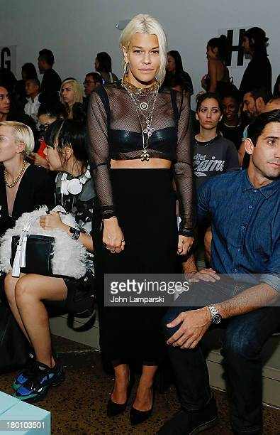 Jenne Lombardo attends the Patrik Ervell show during Spring 2014 MADE Fashion Week at Milk Studios on September 8 2013 in New York City