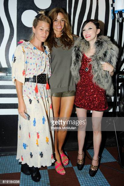 Jenne Lombardo Kelly Bensimon and Stacey Bendet attend MAC alice olivia by Stacey Bendet Collection Launch at Beauty Bar on July 14 2010 in New York...