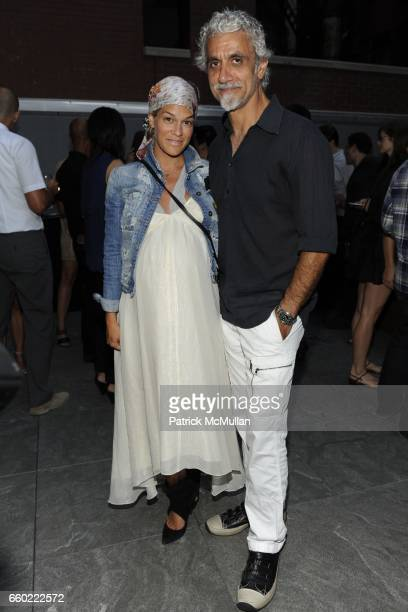 Jenne Lombardo Valentine Pepino and Ric Pipino attend A MAGAZINE Curated by PROENZA SCHOULER Launch Party at Soho Mews on July 13 2009 in New York...