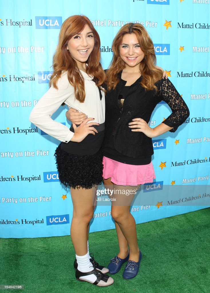 Jennessa Rose and Julianna Rose attend the Mattel Party On The Pier Benefiting Mattel Children's Hospital UCLA at Pacific Park ? Santa Monica Pier on October 21, 2012 in Santa Monica, California.