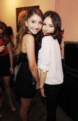 Jennessa Rose and Temara Melek attend the 2nd Annual Artists Against Drugs Art Show at Satine on June 16 2012 in Los Angeles California