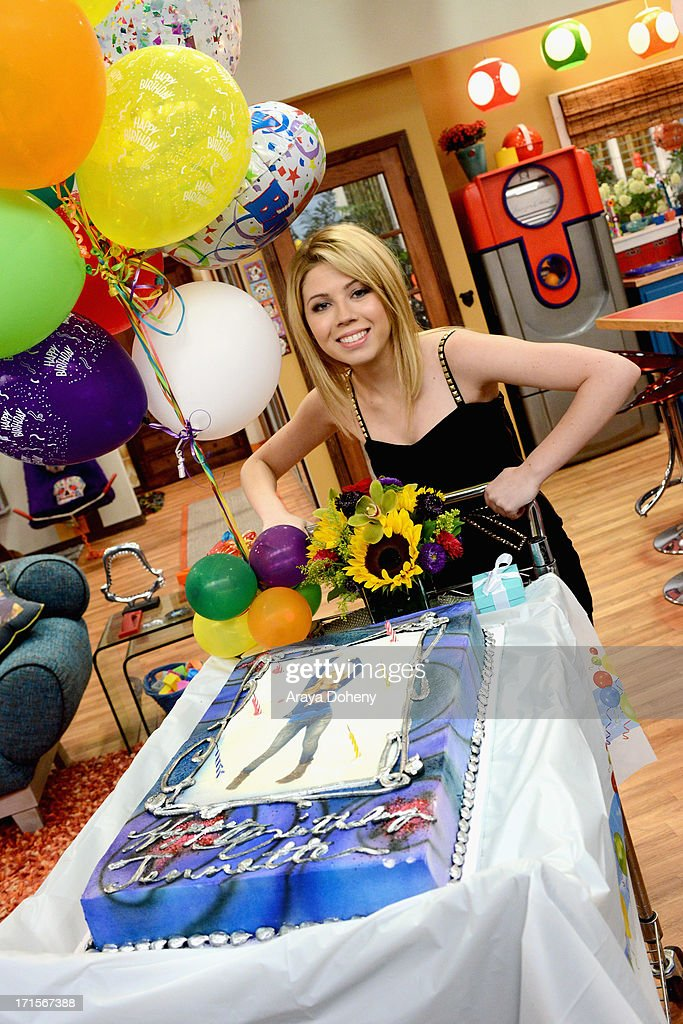 Jennette McCurdy and Ariana Grande celebrated their birthdays on the set of Nickelodeon's Sam & Cat, starring Jennette McCurdy and Ariana Grande on June 26, 2013 in Los Angeles, California.