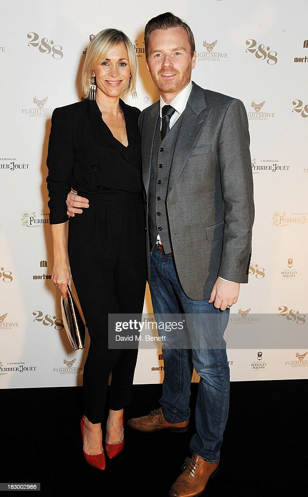 Jenni Falconer (L) and James Midgley attend the 1st birthday party of 2&8 Club inside Mortons on October 3, 2013 in London, England.