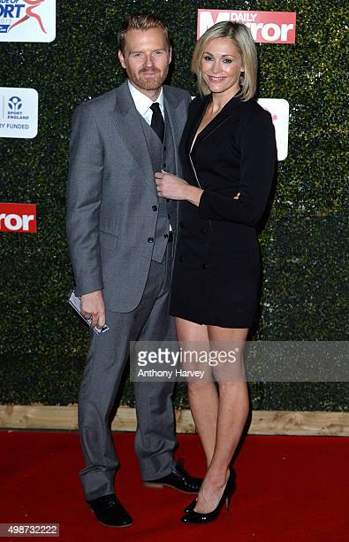 Jenni Falconer and James Midgley attend the Daily Mirror Pride Of Sport Awards at Grosvenor House on November 25 2015 in London United Kingdom