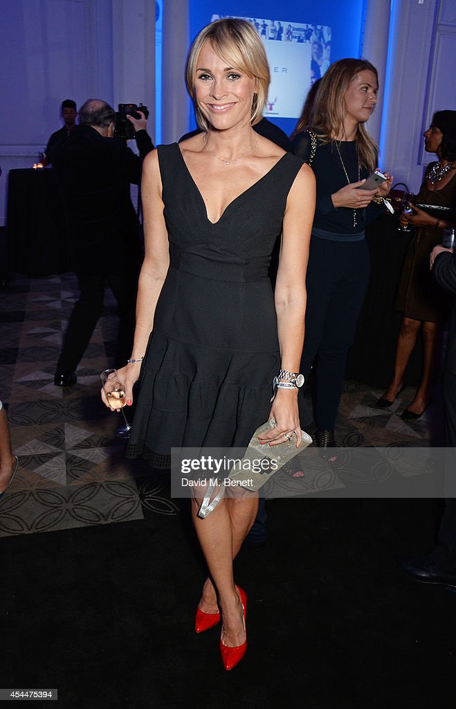 Jenni Falconer arrives at the Scottish fashion invasion of London at the 9th annual Scottish Fashion Awards at 8 Northumberland Avenue on September 1, 2014 in London, England.