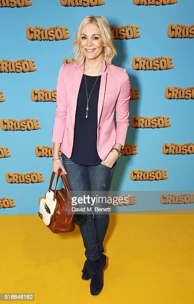 Jenni Falconer attends a VIP screening of 'Robinson Crusoe' at the Vue West End on April 3 2016 in London England