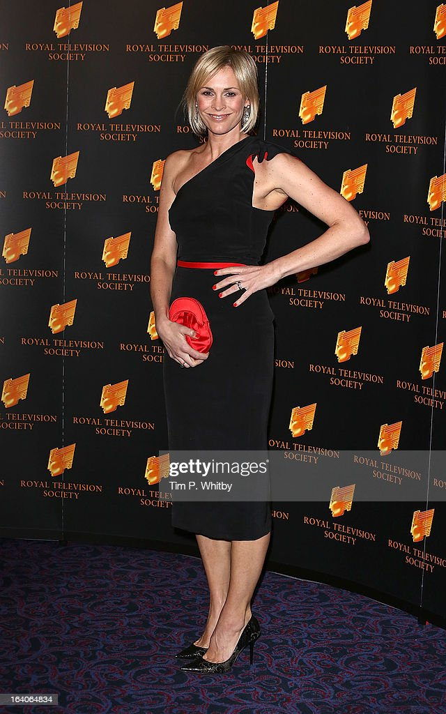 Jenni Falconer attends the RTS Programme Awards at Grosvenor House, on March 19, 2013 in London, England.