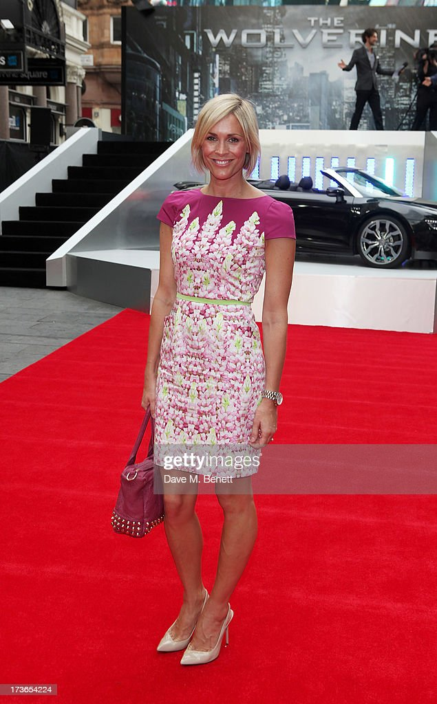 Jenni Falconer attends the UK Premiere of 'The Wolverine' at Empire Leicester Square on July 16, 2013 in London, England.