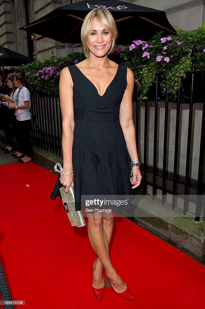Jenni Falconer sighted arriving at the Scotish Fashion Awards on September 1, 2014 in London, England.