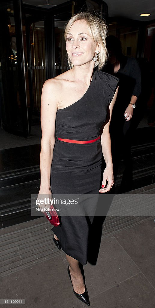 Jenni Falconer sighting on March 19, 2013 in London, England.