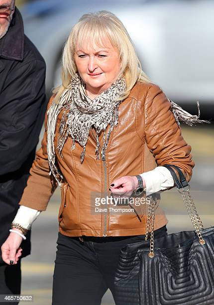 Jenni Hicks whose daughter died at Hillsborough arrives at the Hillsborough Inquest at the specially adapted office building in Birchwood Park on...