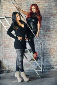Jenni 'JWoww' Farley and Nicole 'Snooki' Polizzi of MTV's 'The Jersey Shore' fame photographed at Broadway Lofts for second season of their spinoff...
